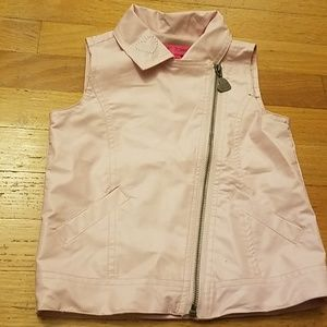 NWOT Betsey Johnson Pink faux leather Vest 4at